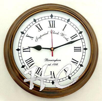 Antique Brass Birmingham Nautical Est 1792 Ship's Vintage Wall Clock Working 10