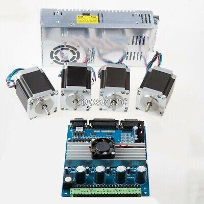 4 Axis Nema 23 Kit 4pcs Stepper Motors 4-axis Driver Board  Power Supply Ts