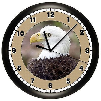 BALD EAGLE WALL CLOCK DECOR BIRD AMERICA PATRIOTIC USA  Bald Eagle Wall Clock