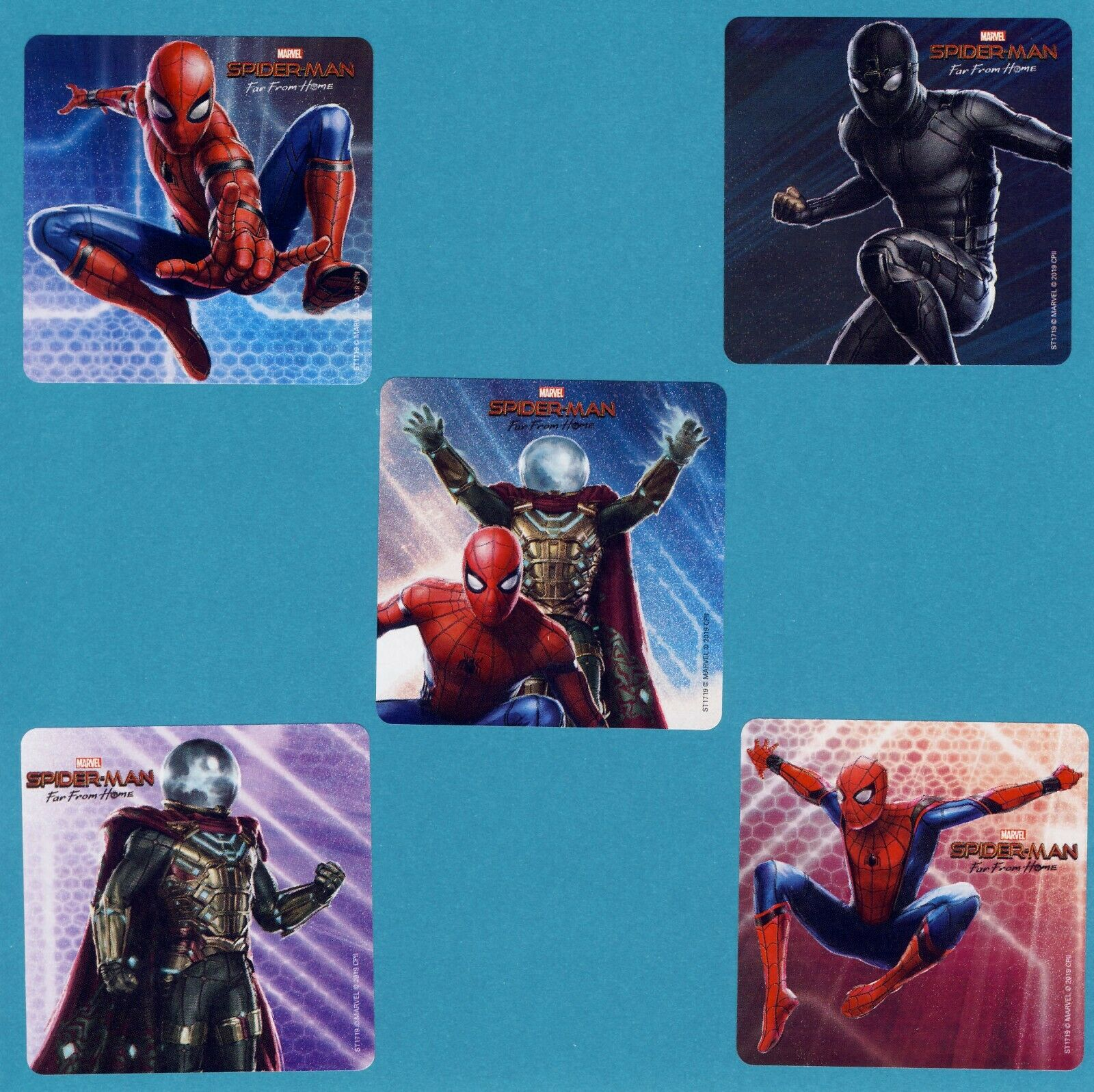 15 Spiderman Far From Home - Large Stickers - Party Favors -