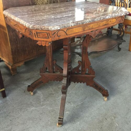 Victorian Marble Side Table Eastlake