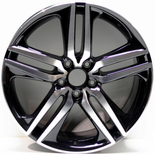 "New 19"" x 8"" Honda Accord Acura Gloss Black Wheels Rims One Piece ALY64083"