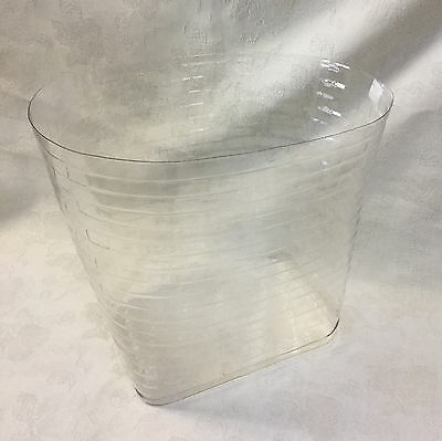 Longaberger Small Oval Waste Basket Plastic Protector Custom Made