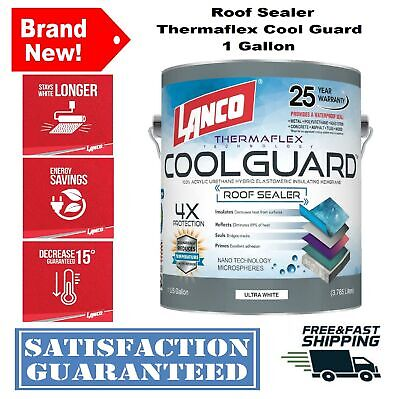 Seal Rubber Roof Coating 1 Gal Coolguard Rv Home Protect Waterproof Paint Sealer