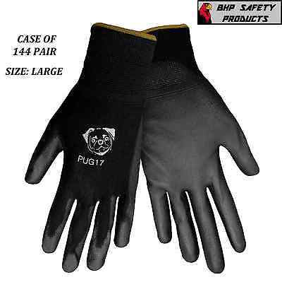 POLYURETHANE COATED WORK GLOVES SIZE LARGE GLOBAL GLOVE PUG17-L (CASE 144 PAIR)