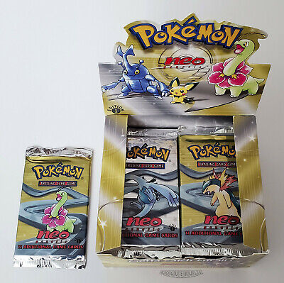 Pokemon 1st Edition Neo Genesis Booster Pack- Meganium - UNWEIGHED - Sealed!