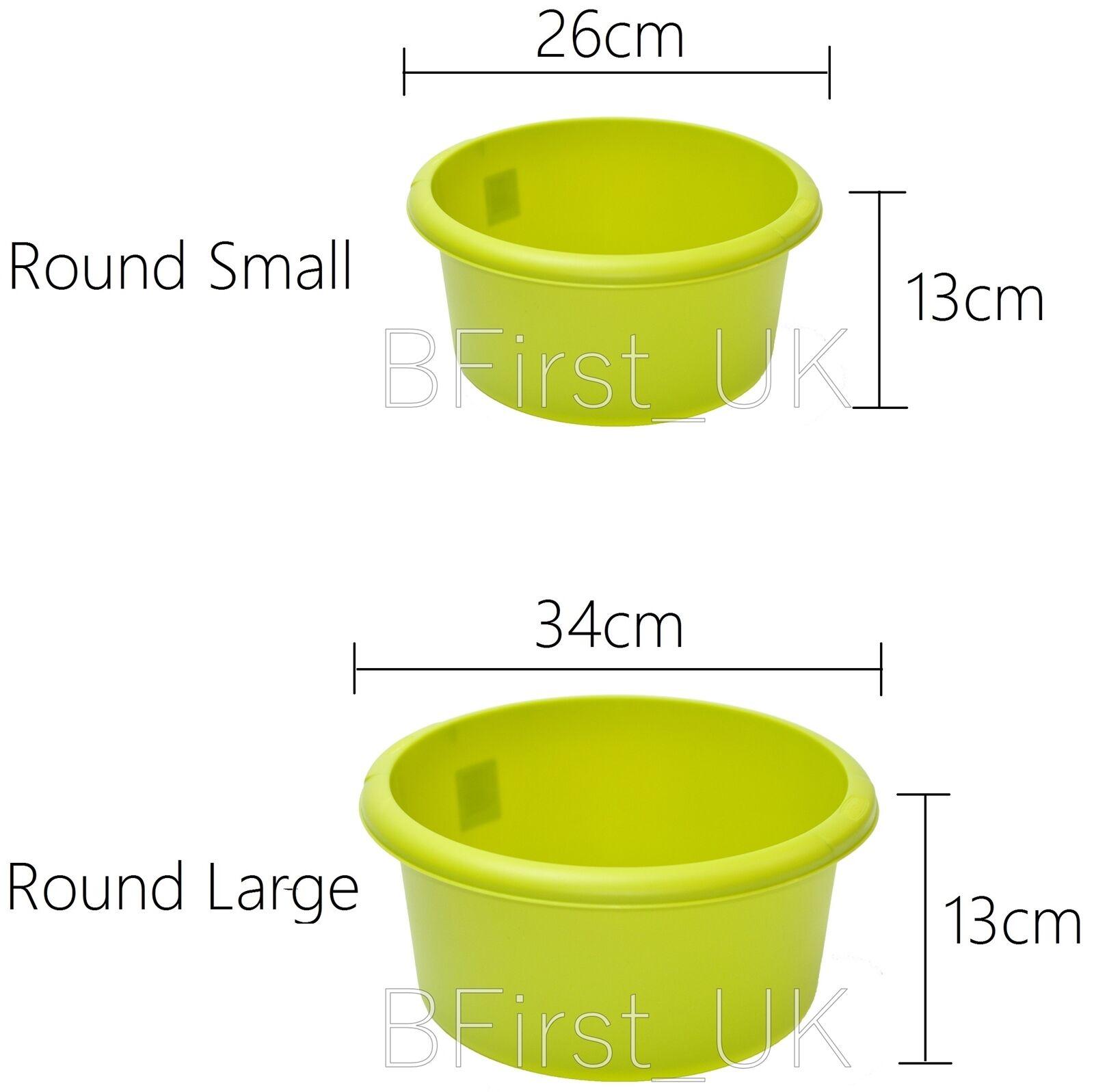 Small Plastic Wash Bowls Basin Set of 4 Hokky Black White Washing up Bowl Rectangular