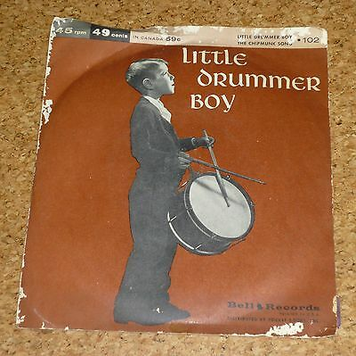 Single The Miller Sisters Little Drummer Boy / The Playmakers Chipmunk Song Bell