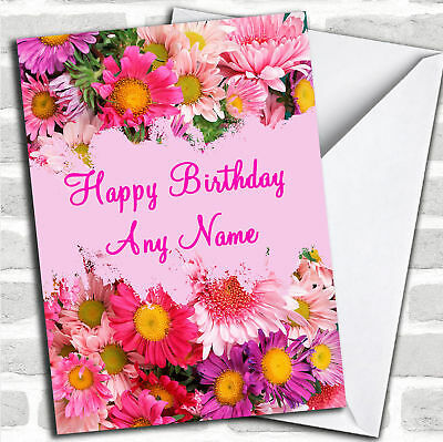 Pretty Flowers Personalized Birthday - Personalized Birthday Cards