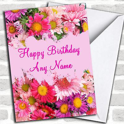 Pretty Flowers Personalized Birthday Card - Personalized Birthday Cards