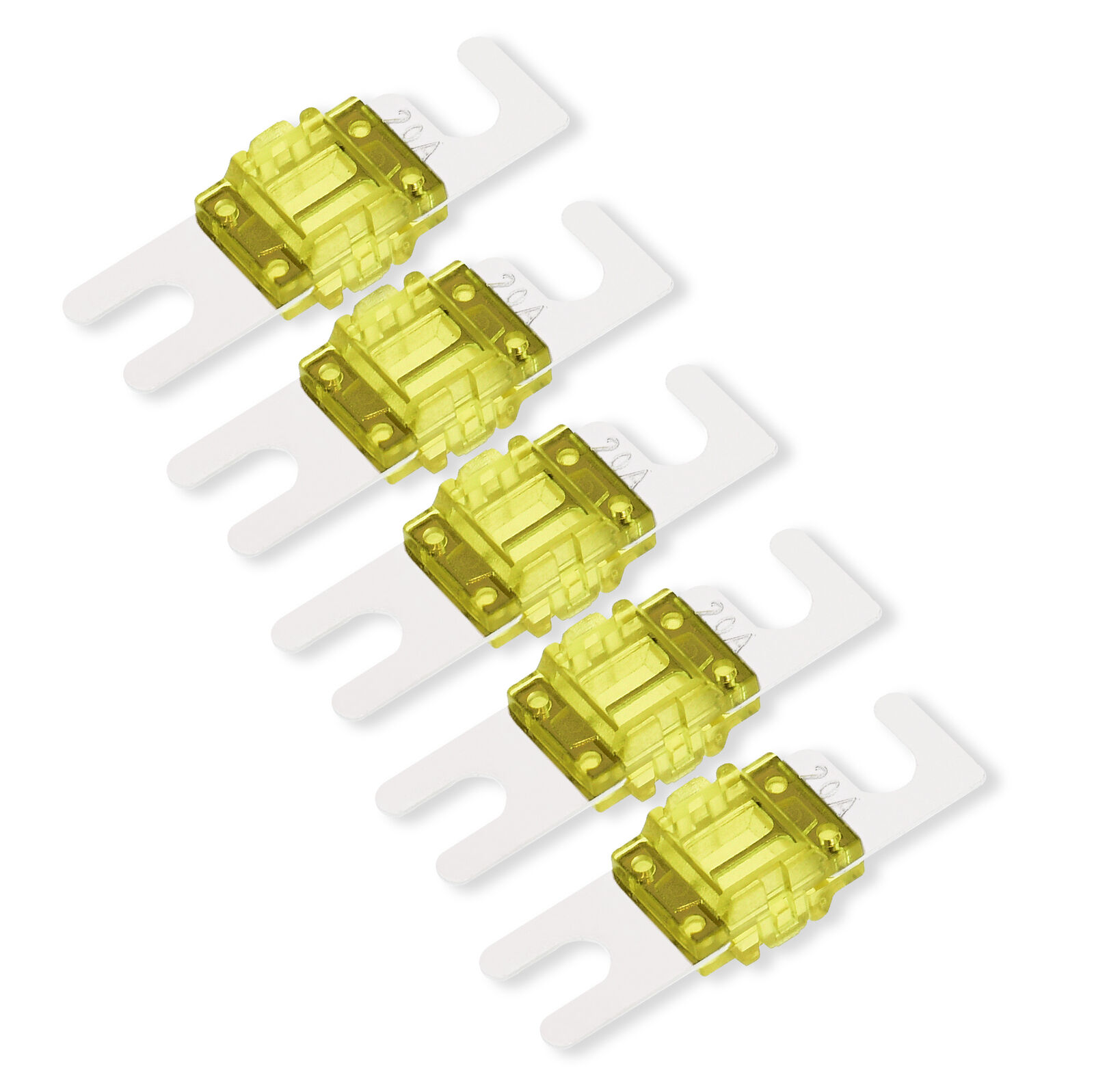 5pcs 30A Nickel Plated Car Audio Mini ANL Type Blade Fuse /& Fuse Holder