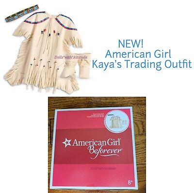 American Girl Kaya's Trading Outfit for 18in Doll NEW IN BOX White Boots Kaya