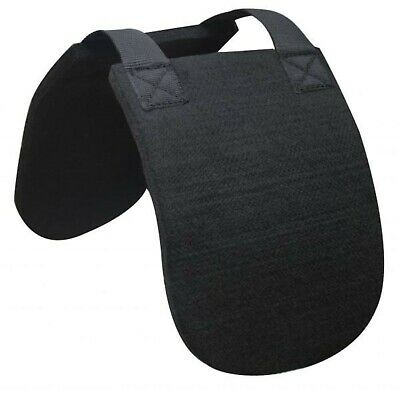 Showman English or Western BLACK felt Horse Wither Relief Saddle Pad! HORSE TACK Wither Relief Pad