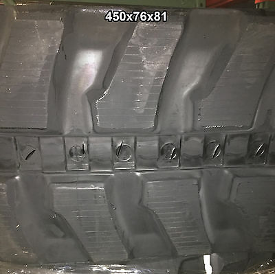 2-tracks Bobcat Rubber Track E-80 E-85 E80 E85 450x76x81 4507681