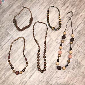 Assorted Wood Necklaces