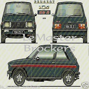 peugeot 104 zs 2 104zs2 affiche automobile poster voiture ebay. Black Bedroom Furniture Sets. Home Design Ideas