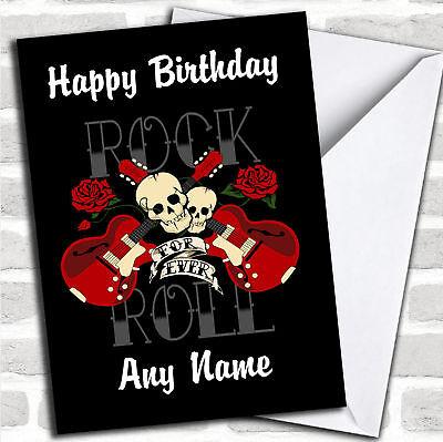 - Rock N Roll Music Birthday Customised Card