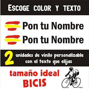 2-x-BANDERA-DE-ESPANA-CON-NOMBRE-PERSONALIZABLES-VINILO-PEGATINA-BICI-BIKE