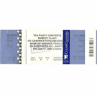 Led Usa Tickets (ROBERT PLANT Concert Ticket Stub BOSTON MA 6/17/05 BANK OF AMERICA LED)