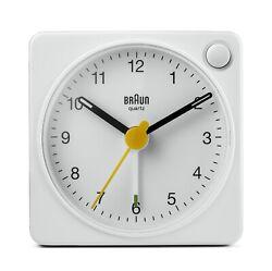 Braun BN-BC2XW White Square Quartz Alarm Classic Travel Clock