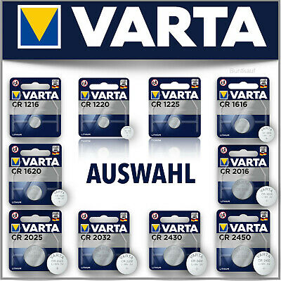 Varta Knopfzellen Bulk Blister CR2016 1616 2025 Batterien Knopfzellen Lithium