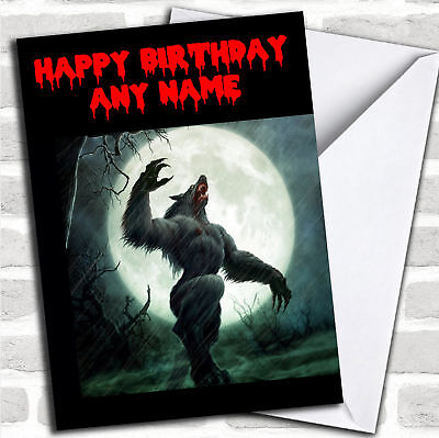 Werewolf Personalized Birthday - Personalized Birthday Cards