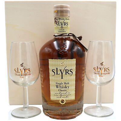 Slyrs Kerpalt Bavarian Single Malt Whisky 0,7l in Holzkiste und 2 Gläsern