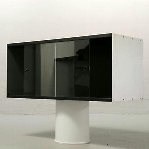 Dieter Rams Vitsoe 90 cm Kasten mit Glas-Schiebetüren Regelsystem 606 schwarz