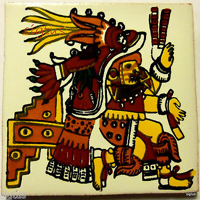 Aztec Kitchen Goddess Talavera Tile Mexico Mexican - Decorative Accent - MINT
