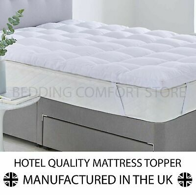 Extra Deep Luxury Hotel Quality Soft Touch Microfibre Mattress Topper - 600 GSM