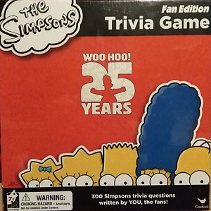 The Simpsons 25th Anniversary Trivia Game STILL PACKAGED