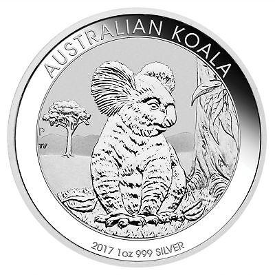 Lot of 2 - 2017 1oz Australian Silver Koala .999 Fine BU