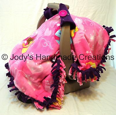 disney princess purple fleece infant baby car