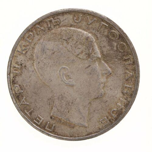 Raw 1938 Yugoslavia 50 Dinara Peter II Silver Coin