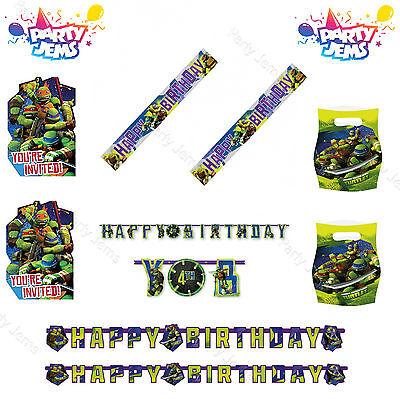 Ninja Turtles Geburtstagsparty Dekorationen Banner Luftballons Einladungen ()