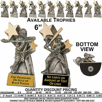 All Star Awards Trophy - All Sports - Free Custom Plaque - Lacrosse - All Star Trophy