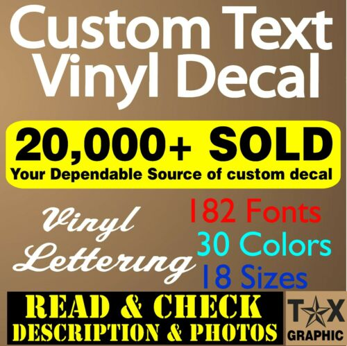 Custom Vinyl Lettering Decal Personalized  Business Sign Text Name Vehicle Car