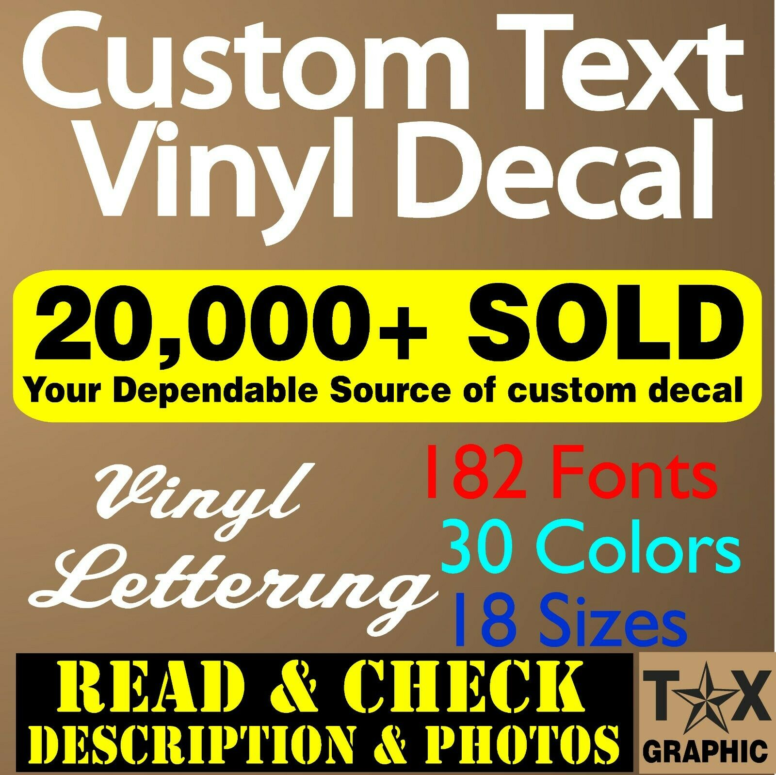 Home Decoration - Custom Vinyl Lettering Decal Personalized Sticker  Business Sign Text Name Door