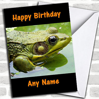 Frog Personalized Birthday Card - Personalized Birthday Cards