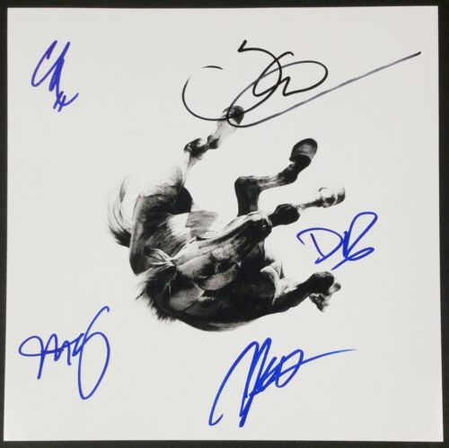 ANBERLIN BAND SIGNED DARK IS THE WAY 12X12 ALBUM COVER PHOTOGRAPH W/COA
