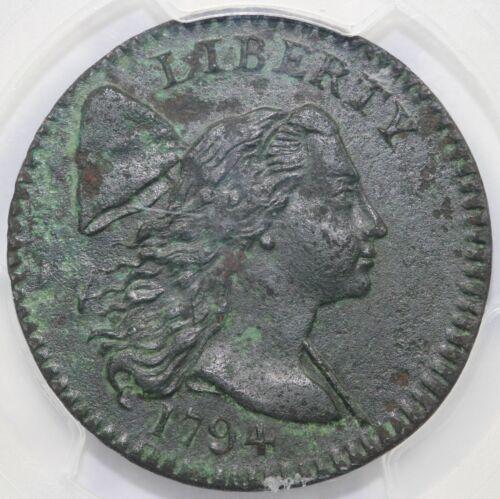 1794 1c Head of 1794 Liberty Cap Large Cent PCGS AU DETAIL ENVIRONMENTAL DAMAGE