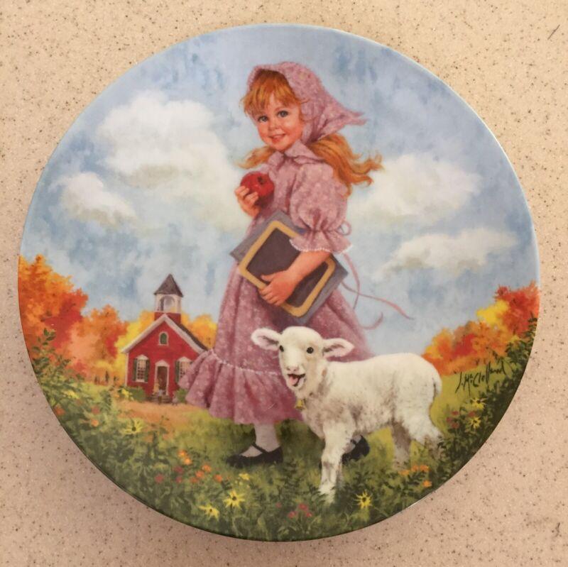 Mother Goose Series Plate Mary Had a Little Lamb 1985 John McClelland Reco COA