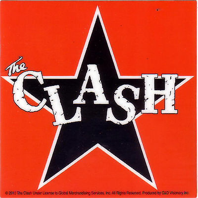 "Clash ""star"" Licensed sticker traditional logo out of print"