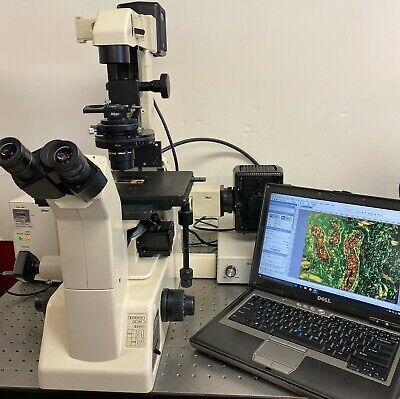 Nikon Diaphot 200 Inverted Nomarski Dic Phase Contrast Fluorescence Microscope