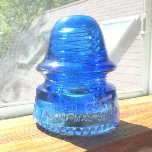 GREAT COBALT BLUE CD 162 HEMINGRAY SIGNAL STYLE GLASS INSULATOR (14)