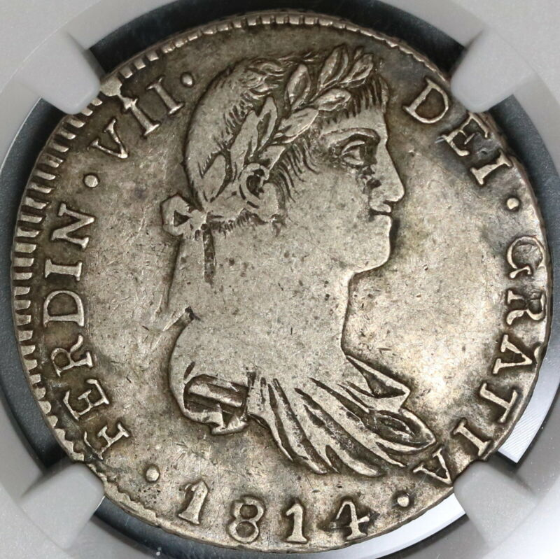 1814-Ga NGC VF 25 Mexico 4 Reales War Independence Guadalajara Coin (19121502C)