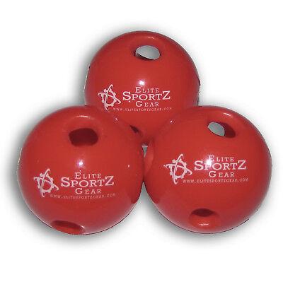Mini Hollow Wiffle Ball Golf Ball Hitting Training 12 Pack Durable Thick