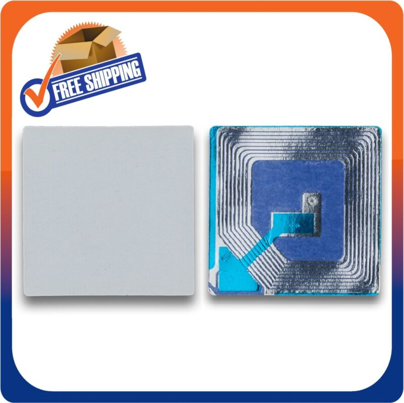 500 PAPER SECURITY LABEL 1.5X1.5 INCH RF 8.2MHZ WHITE EAS CHECKPOINT COMPATIBLE