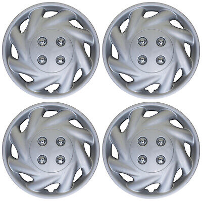 "4 Piece SET Hub Cap ABS Silver 14"" Inch for OEM Steel Wheel Cover Caps Covers"