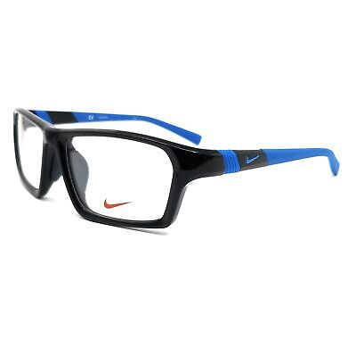 NIKE Eyeglasses 7878AF 008 Black-Photo Blue Rectangle Men 56x16x140
